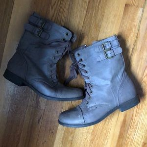 Light brown/gray combat boots